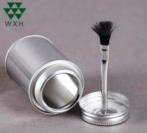 Round Metal Can Tin Container for Paint, Glue, Coating