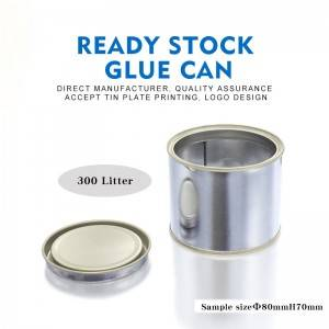 300ml Round Glue Tin Can Chemical Storage Can Direct Manufacturer