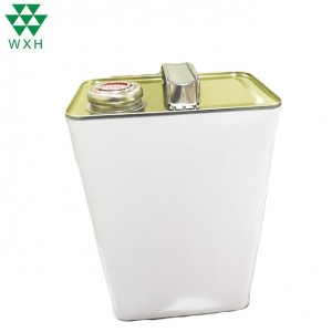 4 Liter Empty Metal Tin Cans for Engine oil packing