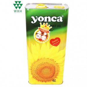 4L Tin Cans for food Grade Edible Oil sunflower oil Tin packing