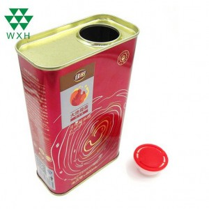 500ml Tin Cans for food Grade Edible sesame oil Tin packing