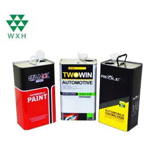 5 Liter Empty Metal Tin Cans for car coating packing