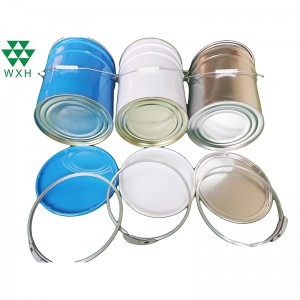 23L top vekirî Tin List bi lock ring bo Paint, Chemical Industrial Packaging