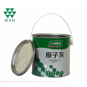 China Original Factory Colored Tin Containers 3l Round Tin