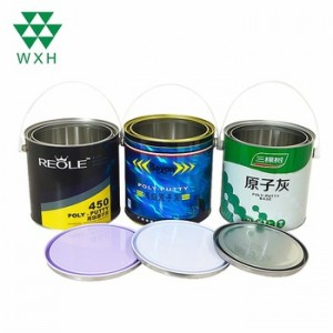 3L Round Tin Cans for Car Coating Automobile Paint Packaging