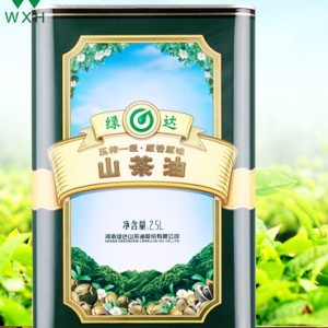 Cans 2.5L Tin bo xwarinê Ast Edible Camellia Oil petrolê û giyaxaneyan Tin