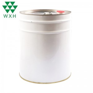 20L Metal Round Tin Can för färg, Chemical Industrial Packaging