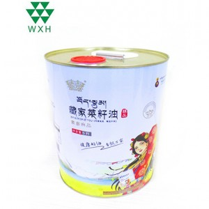 5L Tin Cans for food Grade Edible sesame oil Tin packing