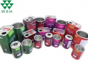 Round Water-Proof Tin Can for Solvent, Oil, Paint Packaging