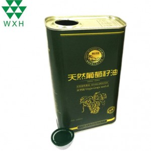 1L Tin Can for food Grade Edible Oil grape pip oil Tin packing