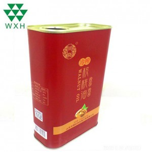 1L Tin Can for food Grade Edible Oil walnut oil Tin packing