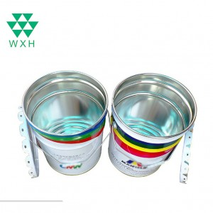 20L Round Tin Bucket ruva chimiro For Paint, Chemical Industrial Packaging