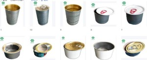 Food Grade Metal Tuna Packaging Tin Cans with Easy Open Lid