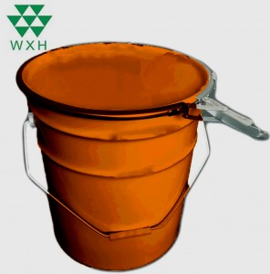Rustproof Paint Tin Bucket, Open-Head Oil Drum with Lock-Ring Lid