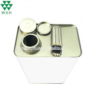 5 Litre F-Style Tin Can for Oil Ink with Screw Cap