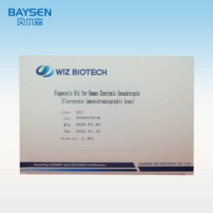 Diagnostic Kit for Human Chorionic Gonadotropin(fluorescence immunochromatographic assay)