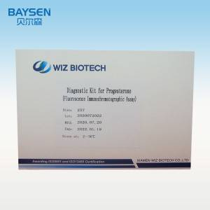 Diagnostic Kit for Progesterone (fluorescence immunochromatographic assay)