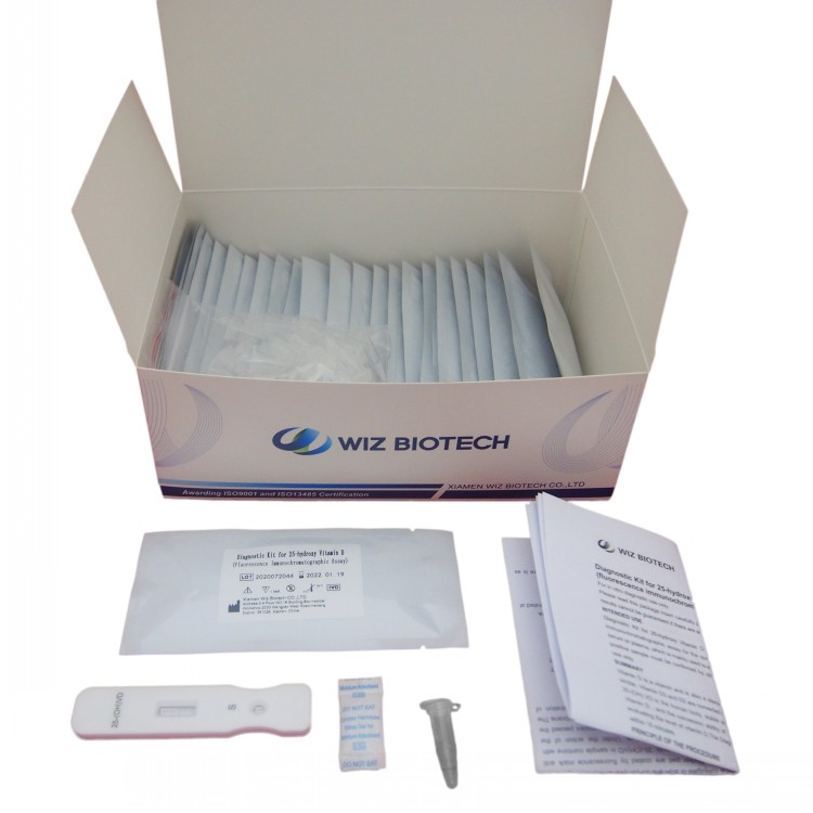 Diagnostic Kit rau 25-hydroxy Vitamin D (fluorescence immunochromatographic tshuaj ntsuam) Featured duab