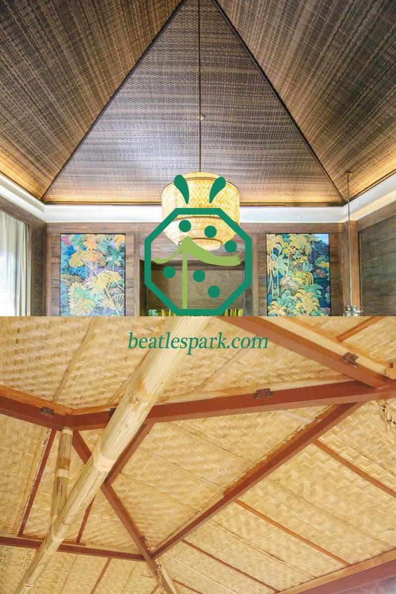Bamboo Mat or Bamboo Poles For Interior Decoration