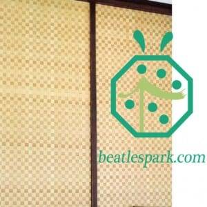 Artificial bamboo ceiling materials in bathroom