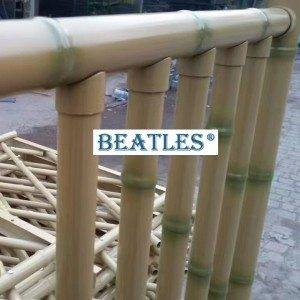 Stainless steel bamboo pipe pole for beach theme park fencing