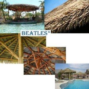 Tiki Hut with PE Reed Leaf Roof Tile for Park Decoration