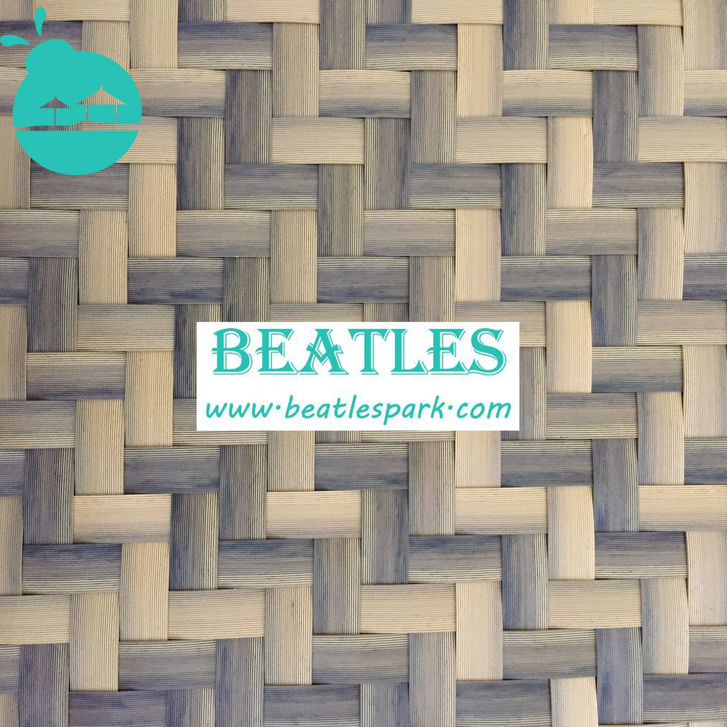 Artificial bamboo matting for interior home ceiling decoration