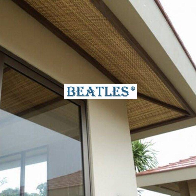 Types Of New Synthetic Woven Bamboo Ceiling Panels Mat For Outdoor Beatlespark