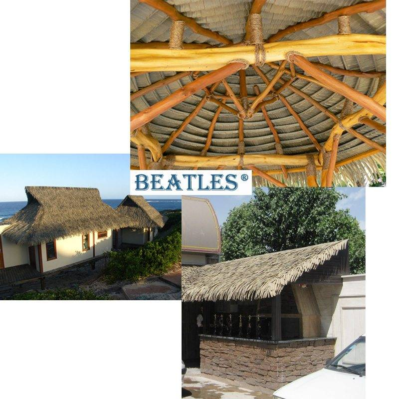 2017 Latest Design  Good Quality Synthetic Thatch Tiles for Palm Leaf Hut to Barcelona Manufacturer
