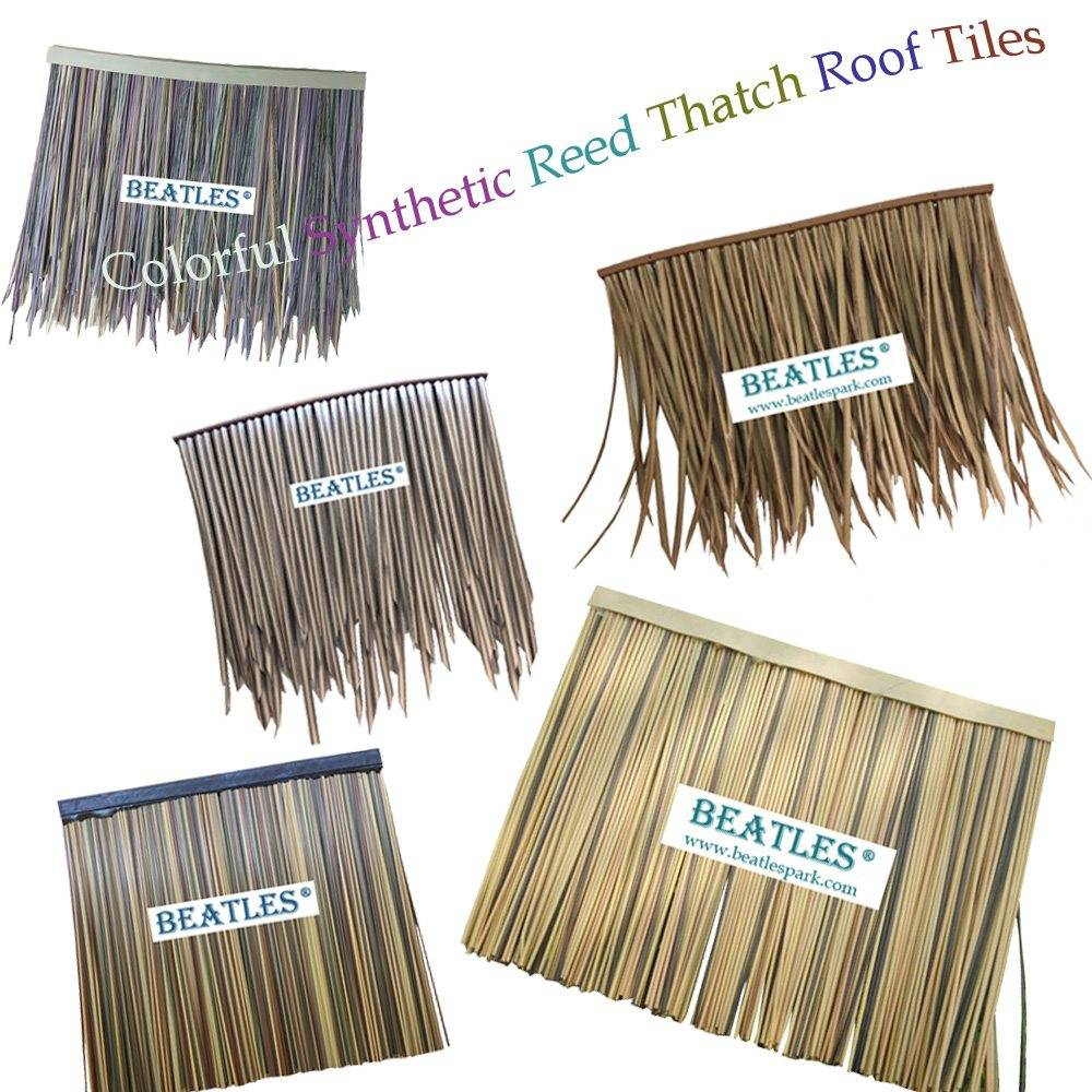 Various color options of synthetic reed thatch roof tiles