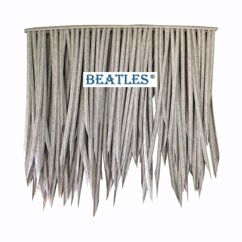 Discount wholesale Fire Proof Synthetic Thatch Reed Leaf Tile Products for Zoos from China – Pvc Artificial Thatch Roof