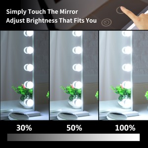 Hollywood Vanity Mirror With 18 Led Bulb, Tabletop or Wall Mounted with a 10X Magnification Mirror