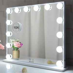 Hollywood Vanity Makeup Mirror Tabletop utawa Wall dipasang