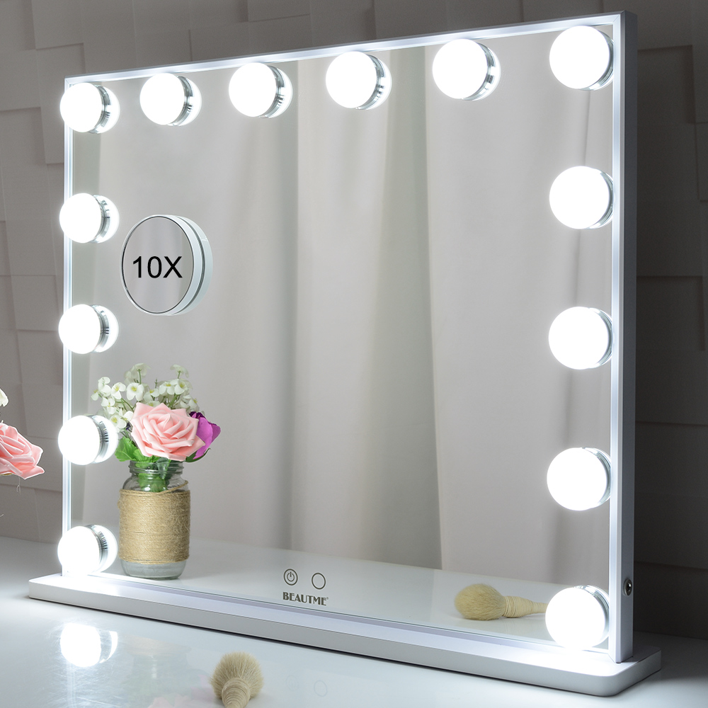 Hollywood Vanity макияжа Mirror Tabletop же Wall Featured Сүрөт минип