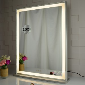 Vanity Mirror with LED Lights, Touch Screen Switch to Adjust Brightness, Table Top makeup Mirror