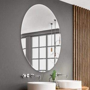 Oval Bathroom Mirror Large Beveled Wall Mirror for Bathroom, Vanity, Living Room, Bedroom