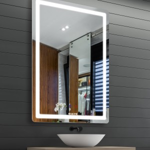 Bathroom Vanity Mirrors, Horizontal/Vertical Wall Mounted Anti Fog & Dimmer Touch Switch Mirror