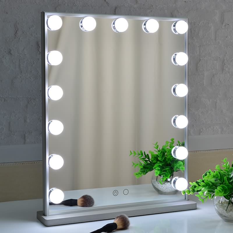 Top Suppliers Vanity Mirror Desk With Lights - Hollywood Vanity Mirror with Led Bulbs, Tabletop or Wall Mounted Adjustable Brightness – Beautme