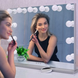 Hollywood woman Vanity Makeup Mirror bi Lights Large Dressing Table-top Beauty Mirror