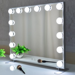 Hollywood Vanity Mirror, Makeup Style Mirrors le Lights, bòrd no Wall ghearra