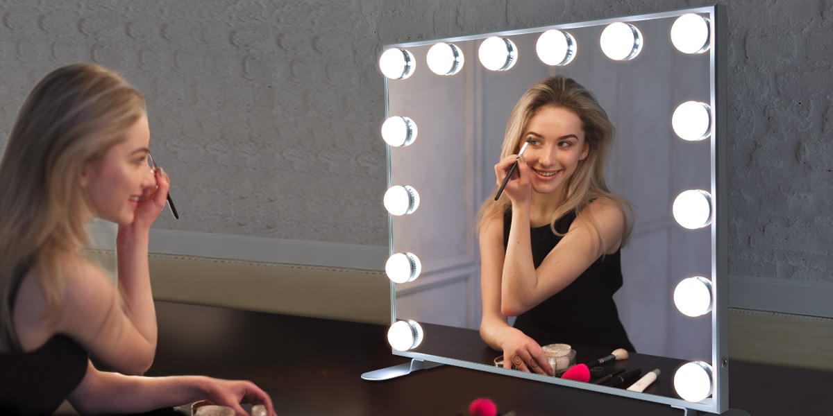 Hollywood Vanity Mirror, Lights, Masa və ya Wall ilə Style Makiyaj Mirrors Atlı