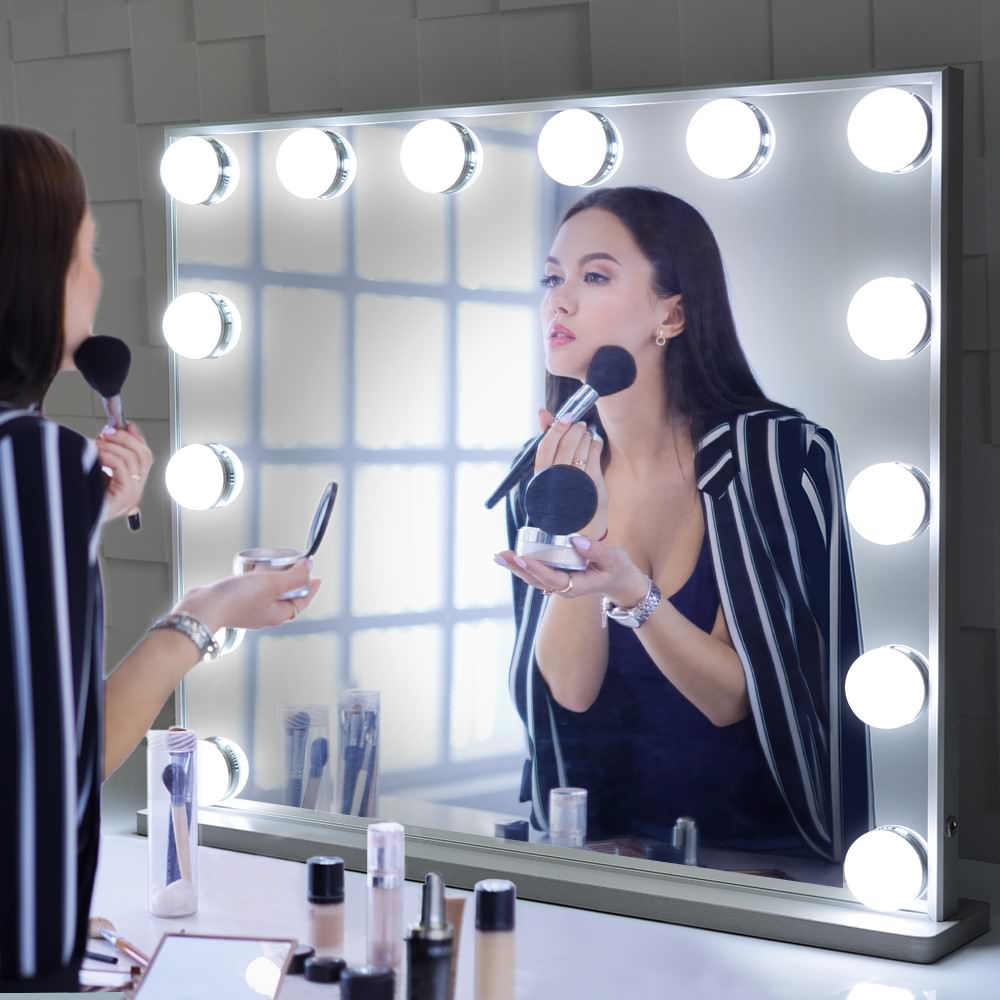 Hollywood Vanity Makeup Mirror Masa və ya Wall Atlı