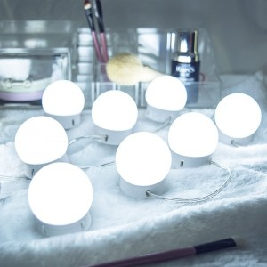 Hollywood LED Vanity Mirror Lights Kit Sbuħija Dawl Fixture Istrixxa