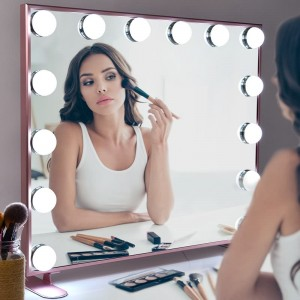 Hollywood Vanity Mirror, Style Makeup spieëls met Lights, Tafelblad of muur