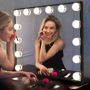 Hollywood Vanity Mirror, Gaya Makeup Mirrors karo lampu, Tabletop utawa Wall dipasang