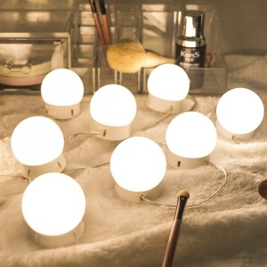 Hollywood LED tarayn Mirror Lights Kit Beauty Laydhka Rikoorka Strip