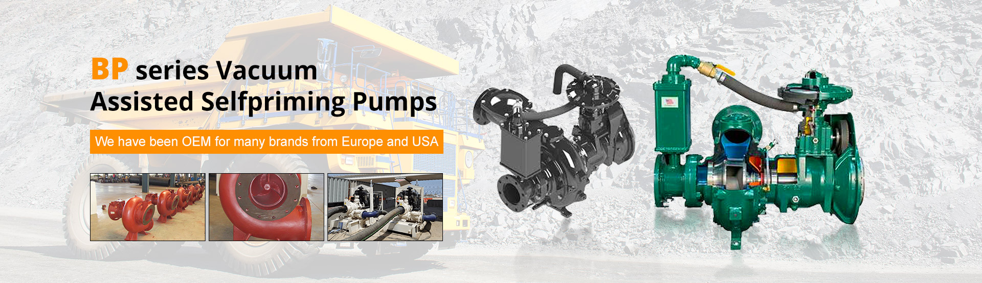 BP series Vacuum  Assisted Selfpriming Pumps