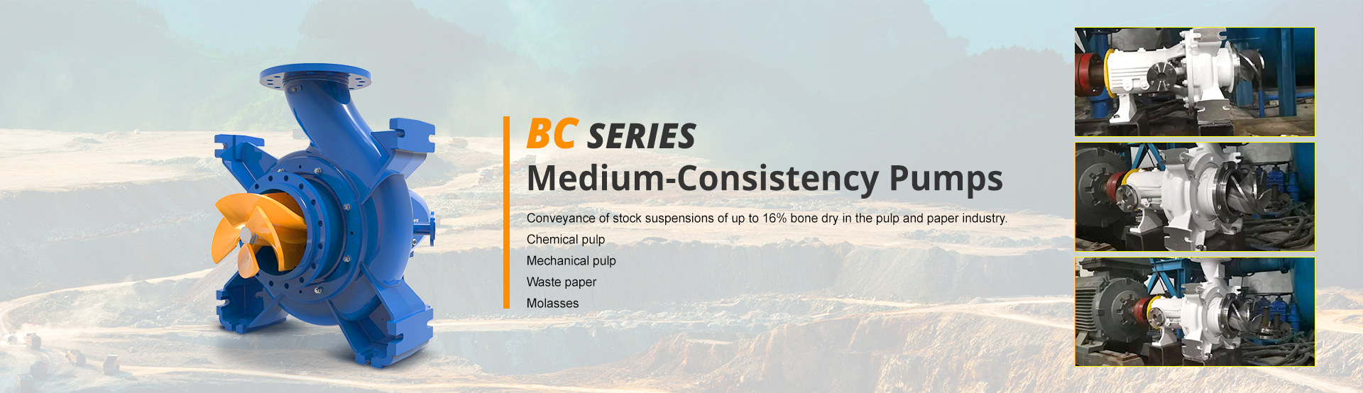 BC series  Medium-Consistency Pumps