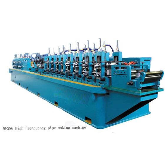 High frequency straight seam tube mill pipe making machine