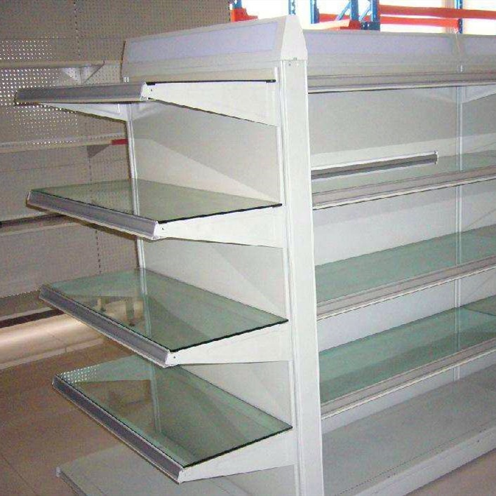 Customized Size Modern Style supermarket Corner shelf